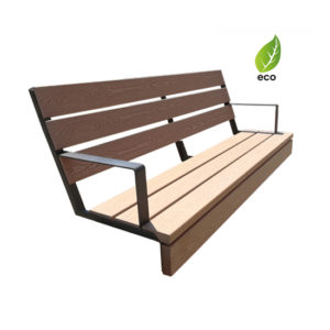 Wall Bench Expert Eco with armrest